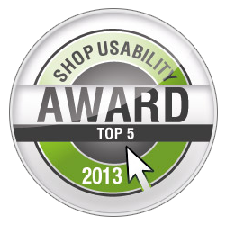 Top 5 der nominierten Shops des Usability Awards 2013